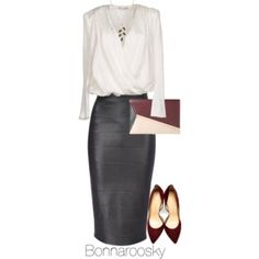 Black, white and burgundy