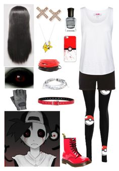 """""""Creepypasta: Daughter of Lost Silver"""" by ender1027 ❤ liked on Polyvore featuring Dorothy Perkins, adidas, Fashion Focus, Dr. Martens, EF Collection, West Coast Jewelry and Deborah Lippmann"""