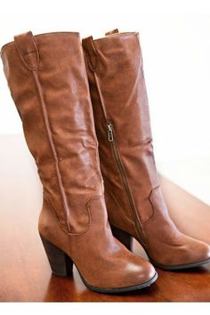 Fall Rush Boots - Cognac Brown #boots #shoes #fashion
