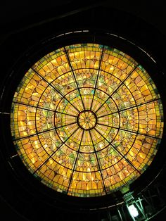 stained glass dome restoration by Gaytee-Palmer Stained Glass
