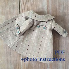 Baby Girl Dress Patterns, Baby Clothes Patterns, Coat Patterns, Clothing Patterns, Sewing Patterns, Doll Dress Patterns, Swing Coats, Sewing Dolls, Waldorf Dolls