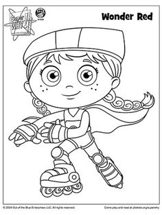 SUPER WHY Coloring Book Pages: SUPER WHY's Wonder Red (via Parents.com)
