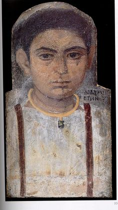 Fayum mummy portrait.