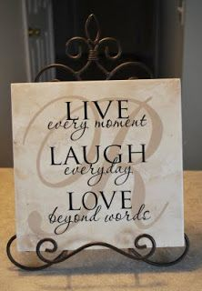 Cher's Signs by Design: Personalized Tiles and Gifts Ceramic Tile Crafts, Shilouette Cameo, Diy Coasters, Coaster Crafts, Vinyl Quotes, Tile Projects, Craft Projects, Decoupage, Vinyl Tiles