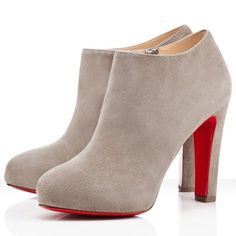 These even have my name on them :) Christian Louboutin Vicky Booty 120mm Ankle Boots Grey