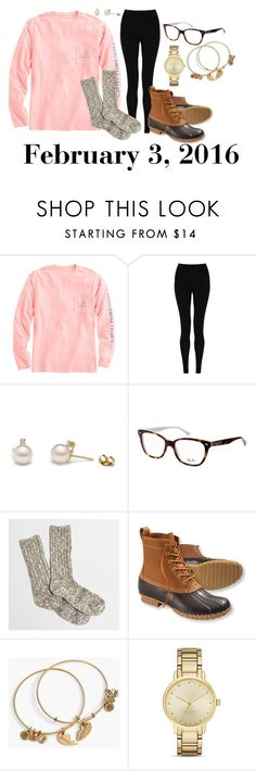 """""""February 3, 2016"""" by jennie-le on Polyvore featuring Vineyard Vines, M&S Collection, Ray-Ban, J.Crew, L.L.Bean, Alex and Ani, Kate Spade, women's clothing, women's fashion and women"""