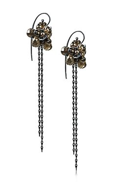 Alison Macleod Re-Found Earrings (oxidised silver, smoky quartz)