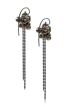Alison Macleod Re-Found Earrings (oxidised silver, smoky quartz)