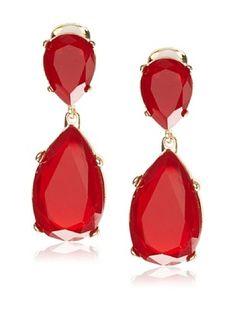 Just love these Kenneth Jay Lane Red Double Teardrop Clip-On Earrings Prom Earrings, Clip On Earrings, Jay, Women Jewelry, Revolution, Shoes, Fashion, Moda, Zapatos