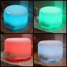 OxyLED Ultrasonic Cool Mist Humidifier & Aroma Diffuser