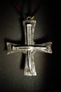 2c3a1340ed0 ST Francis Xavier Cross Jesus Tau Cross solid pewter Waxed Cotton Cord -  Jewelery Cross CANADA
