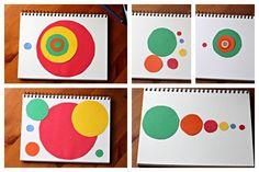 Circles based on the Fibonacci sequence