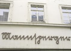 The truth is, this example of typography on a building I can't read.