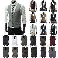 Men's Dress Suit Vest Formal Business Wedding Tuxedo Waistcoat Jacket Coat Tops – Diva Wear Mens Suit Vest, Mens Suits, Waistcoat Men, Suit Men, Jacket Men, Military Jacket, Dress Suits For Men, Men Dress, Coat Dress