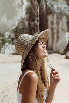 Summer straw hat – Lack of Color Fashion Night, Fashion Hats, Fashion Top, Fashion 2018, Trendy Swimwear, Summer Hats, Beach Bum, Hats For Men, Sun Hats For Women