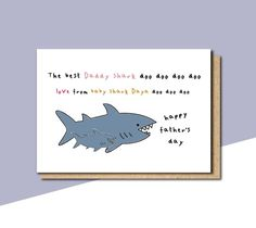 Grandma shark card mothers day card for nana mothers day Funny Fathers Day Card, Happy Fathers Day, Happy Mothers, 40th Birthday Cards, Masculine Birthday Cards, Funny Greetings, Funny Greeting Cards, Good Daddy, Personalized Mother's Day Gifts
