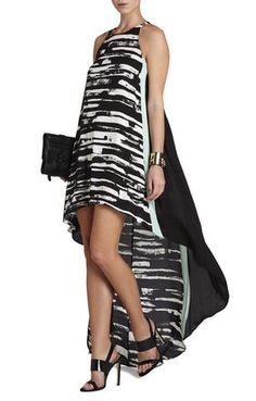 Malisa Sleeveless Color-Blocked Dress | BCBG- Beautiful. Will love to wear this for dinner during a beach vacation.