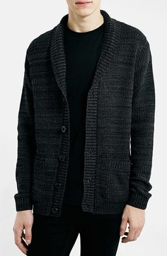 Topman Textured Shawl Collar Cardigan available at #Nordstrom
