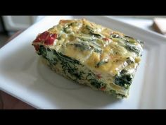 Easy and Healthy Spinach Egg Casserole Recipes with casserole dishes Spinach Egg Casserole, Breakfast Casserole, Casserole Recipes, Breakfast Recipes, Spinach Quiche, Frittata, Quiches, Egg Recipes, Cooking Recipes
