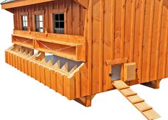Our largest chicken coop! This Amish-made, attractive chicken coop houses a flock of up to 40 chickens!