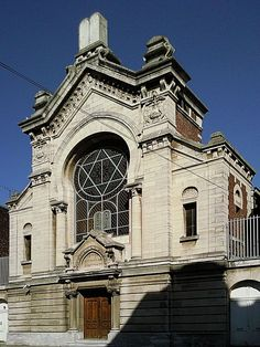 La synagogue de Lille, Nord, France, construite en 1891. Synagogue Architecture, Religious Architecture, Art And Architecture, Jewish Synagogue, Jewish Temple, Temples, Throughout The World, Around The Worlds, Lille France