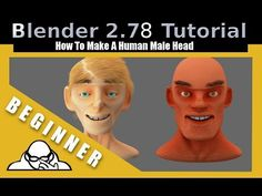 How To Make A Human Male Head In Blender 2.78 c
