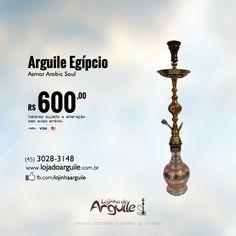 Arguile Egípcio Asmar Arabic Soul   De R$ 685,00 / Por R$ 600,00 até 6x de R$ 108,50 ou R$ 570,00 via depósito  Confira em: http://www.lojadoarguile.com.br/arguile-egipicio-asmar-arabic-soul