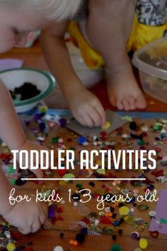These are activities that are perfect for toddlers. Find lots of fun toddler activities! Gross motor activities, fine motor activities, learning activities!
