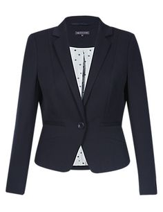 PETITE 1 Button Panelled Jacket | M&S