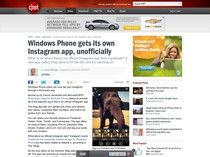 Windows Phone gets its own Instagram app, unofficially – CNET News
