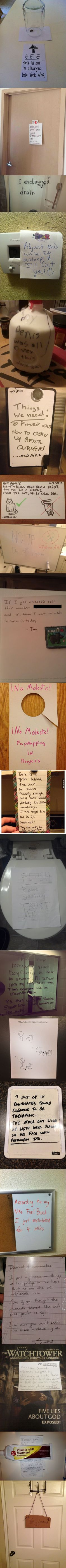 Notes From Roommates