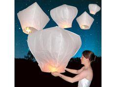 sky lantern release for night wedding
