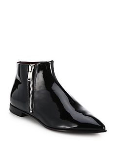 Marc by Marc Jacobs Blake Double-Zip Patent Leather Ankle Boots