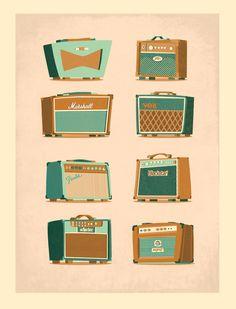 Amplifier selection by Daniel Long, via Behance