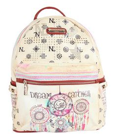 Another great find on #zulily! Beige & Burgundy Dream Catcher Quinn Backpack by Nicole Lee #zulilyfinds