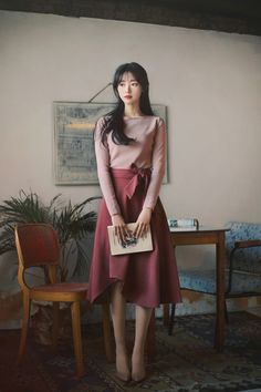 Modest Outfits, Classy Outfits, Modest Fashion, Chic Outfits, Pretty Outfits, Beautiful Outfits, Fashion Dresses, Korean Girl Fashion, Ulzzang Fashion