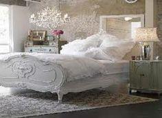 Спальня в стиле потертый шик в розовый и белый   Shabby chic ...