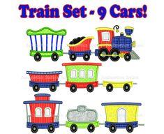 Train Engine Large Set Applique Machine by AppliquetionStation, $17.95