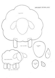 this is an applique pattern, but would be PERFECT to use as a template for a kids lamb craft