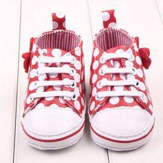Bow Polkadots Toddler Sneakers