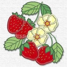 Free Embroidery Design: Strawberries