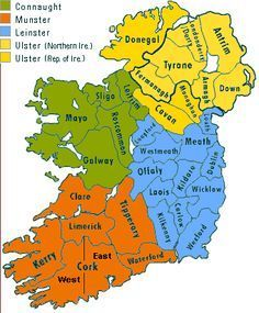 row 17 pic 1st  by counties 4 Provinces = Connauyt =Galway,Roscommon,Leitrin,Mayo and Sligo Leimeter = Dublin,Kildare,Kelkerney,laois,Louth, Mearth,Westford,Wicklow,Laois,Wixlow,Carlow,Westmerth,Offaly,longford, Munster= Clair,Cork,kerry, Limrick,Tipperary,Waterford Ulster=Antilm,armagh,cavan,Donegel,Fermanaugh,Tyrome,Lodonderry/derry,Monaghan,Down... See photo cities of your Ancestory.