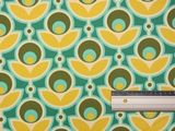 Cotton Sateen - Buttercup - Turquoise