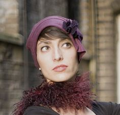 Rich berry cloche hat made to order designed for warmth by Orizu, £50.00