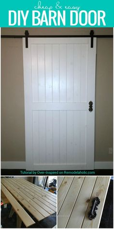 Build This Cheap And Easy DIY Barn Door For Around $80! Plus Tips For  Finding Bu