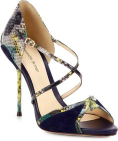 Python and Suede Sandals - Lyst