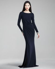 c7923d8237a David Meister Exclusive Jewel-Cuff Jersey Gown