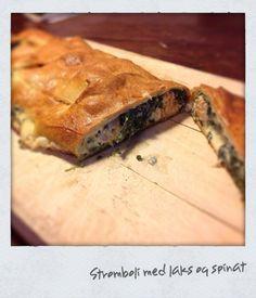 Stromboli med spinat og laks