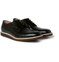 Common Projects Crepe-Sole Leather Derby Shoes | MR PORTER