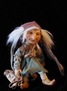 OOAK handsculpted art doll forest pixie by Alderworld on Etsy, £60.00